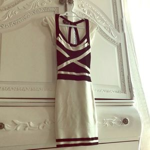 XS Black&White Bandage Bebe Dress